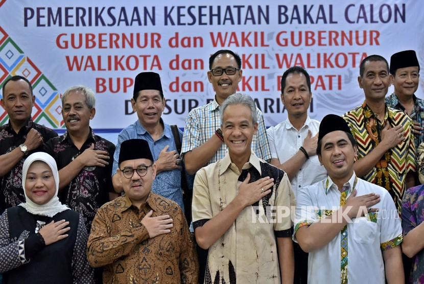 Candidates running in Central Java regional elections.