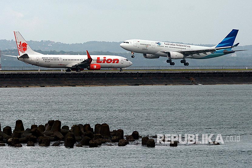 Maskapai penerbangan Indonesia (ilustrasi)
