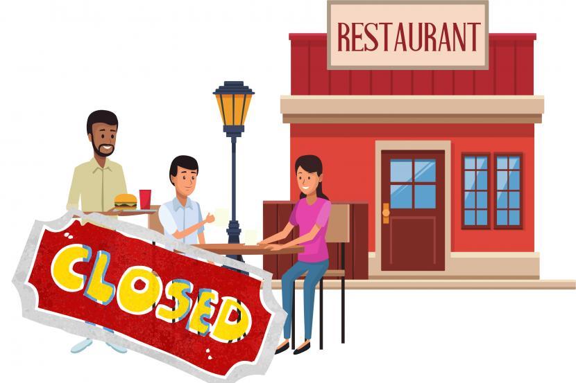 Pelonggaran PPKM Level 4 Diperluas ke Sejumlah Daerah. Foto:   Dua restoran di Solo ditutup sementara karena melanggar aturan pemberlakuan pembatasan kegiatan masyarakat (PPKM) -- ilustrasi