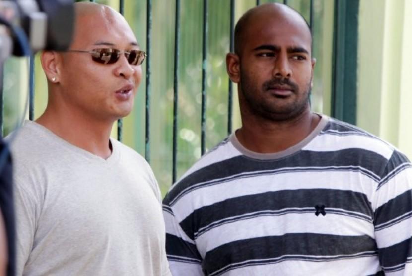 Dua terpidana mati Bali Nine, Andrew Chan dan Myuran Sukumaran.