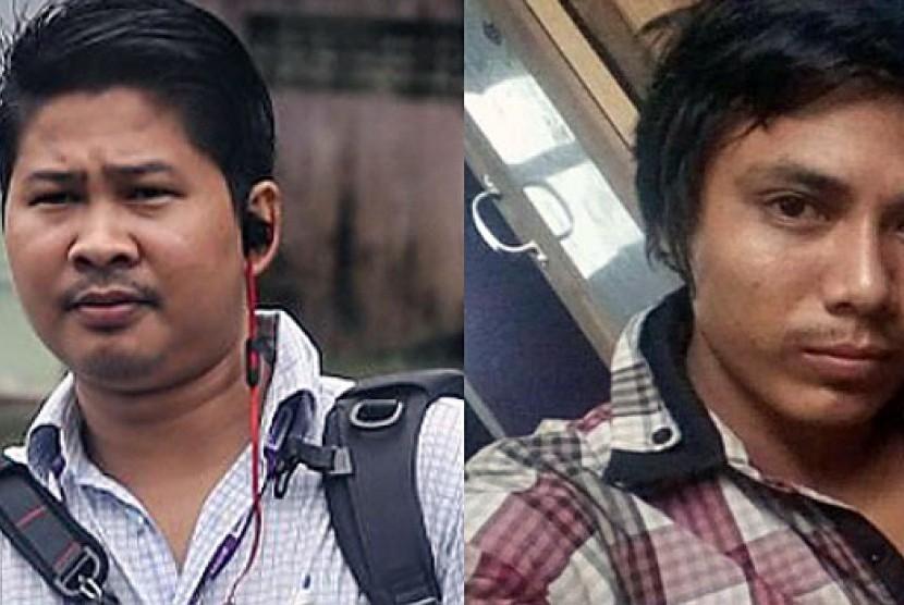 Dua wartawan Reuters yang dipenjara pengadilan Myanmar, Wa Lone dan Kyaw Soe Oo