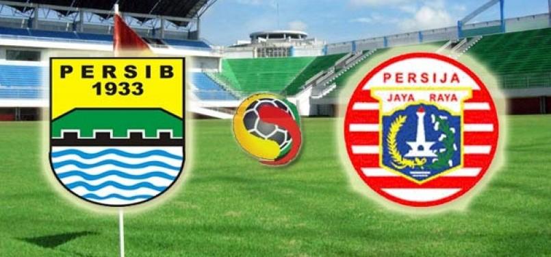 Duel Persib Bandung lawan Persija Jakarta. (ilustrasi)