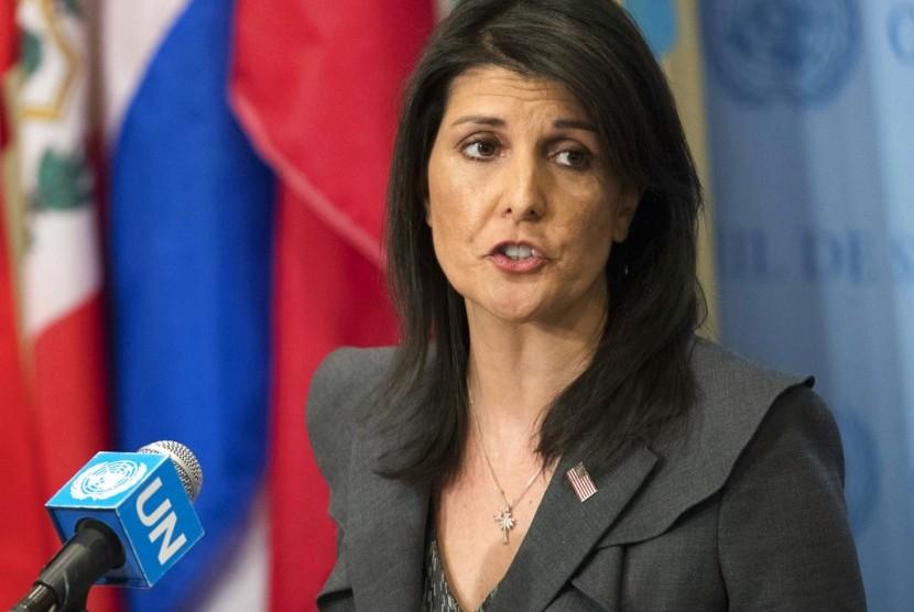 Duta Besar AS untuk PBB Nikki Haley.