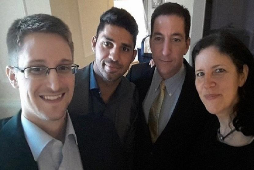 Edward Snowden dan Laura Poitras