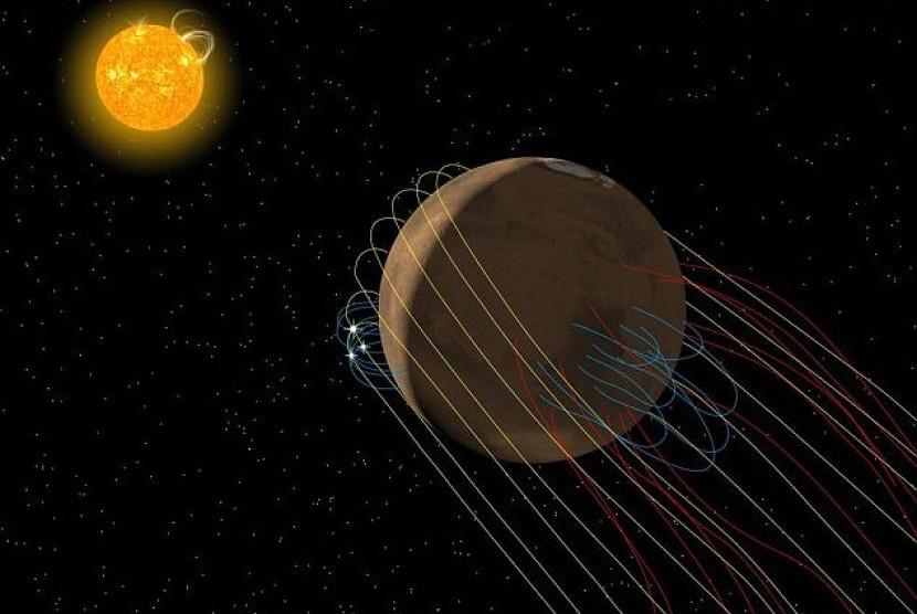 Ekor planet MARS. Ilustrasi