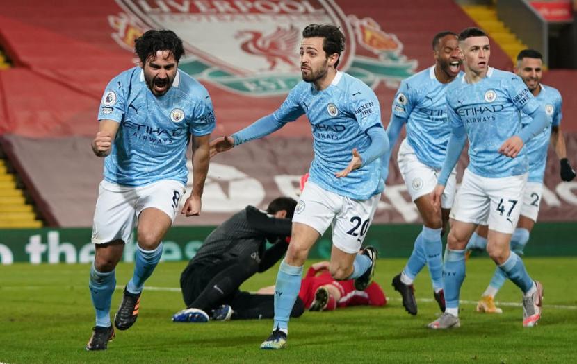 Libas Liverpool, Manchester City Kokoh di Puncak Klasemen