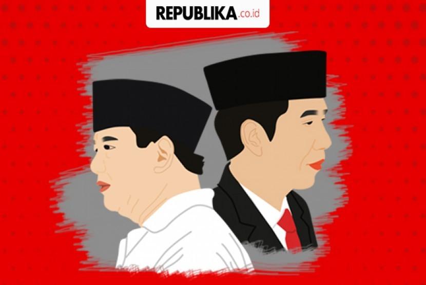 Elektabilitas Jokowi dan Prabowo