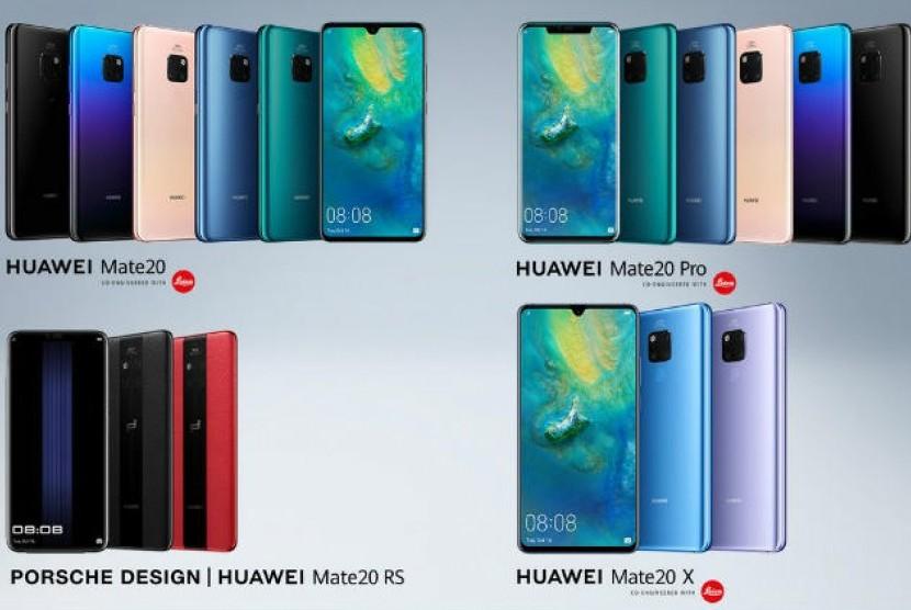 Empat seri ponsel flagship dari Huawei, Mate 20.