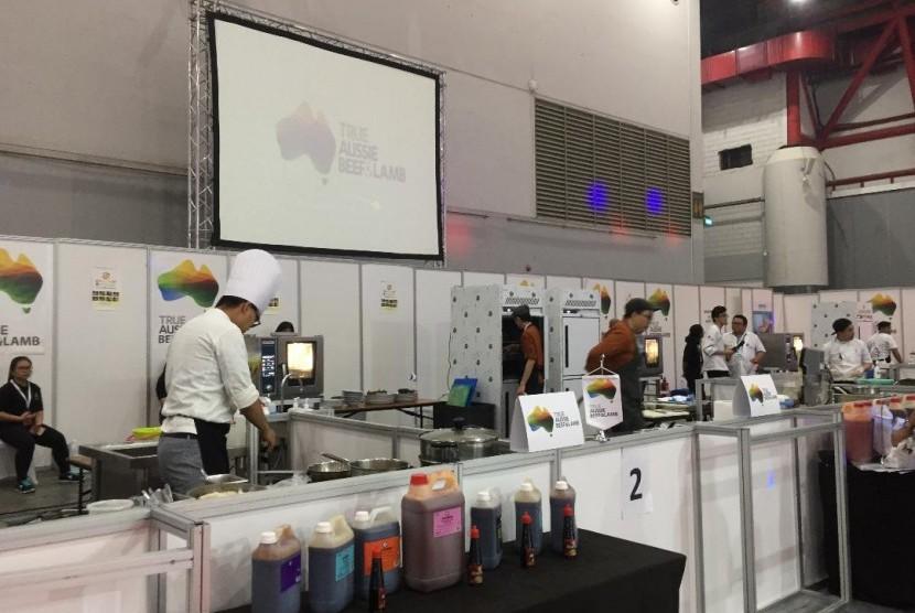 Empat tim dari Indonesia berlaga dalam Asian Gourmet Food Challenge 2018 pada Kamis (19/7) di Pameran Hotelex & Finefood Indonesia di JII EXPO Kemayoran, Jakarta.