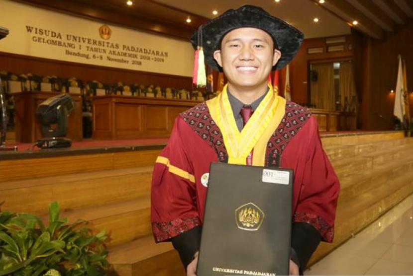Eqi Buana, Mahasiswa Unpad peraih gelar Master di KGU, Jepang.