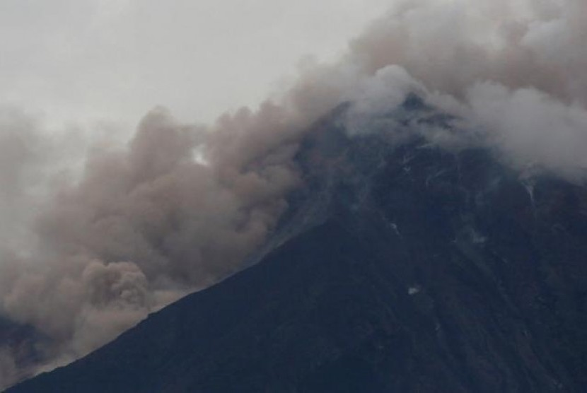 Erupsi Gunung Fuego di Guatemala, Ahad (3/6).