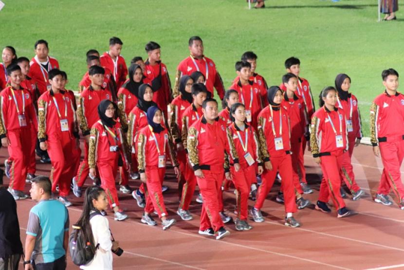 Event olah raga 22nd Thailand Sports School 2019 Khon Kaen Games resmi dibuka pada Selasa (30/7) malam.