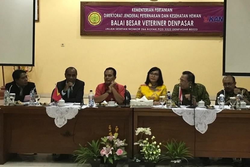 Exit meeting evaluasi rekomendasi ekspor di Balai Besar Veteriner Denpasar (16/11)