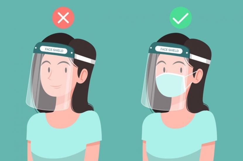 Perlukah Memakai Masker Saat Mengenakan Face Shield Republika Online