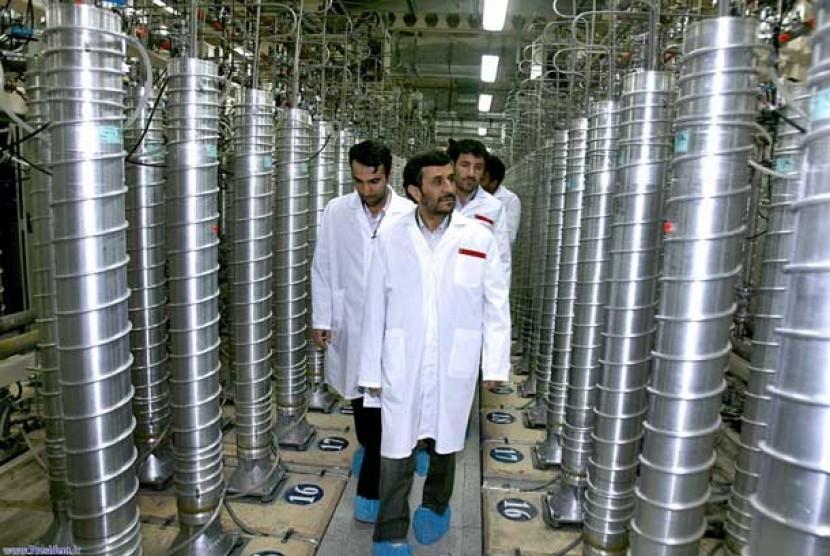 Fasilitas nuklir Natanz di Iran.