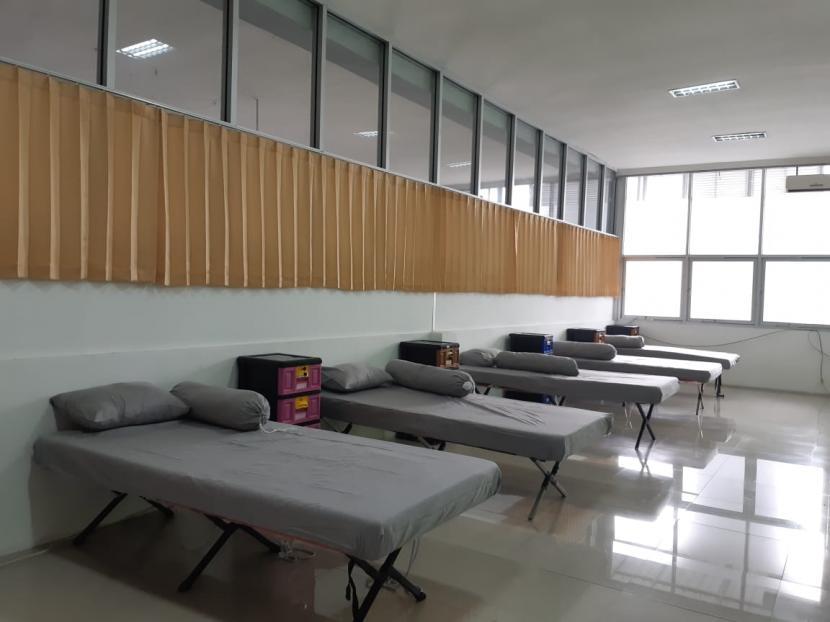 Fasilitas rumah karantina bagi para pemudik yang disiapkan Pemkot Solo di gedung Solo Techno Park.