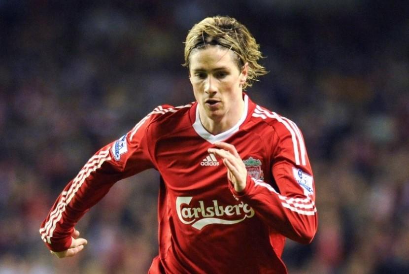 Fernando Torres saat masih memperkuat Liverpool.
