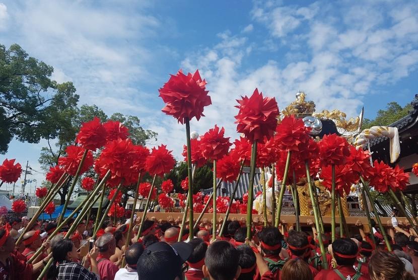 Festival Kenka Matsuri di Himeji, Jepang.