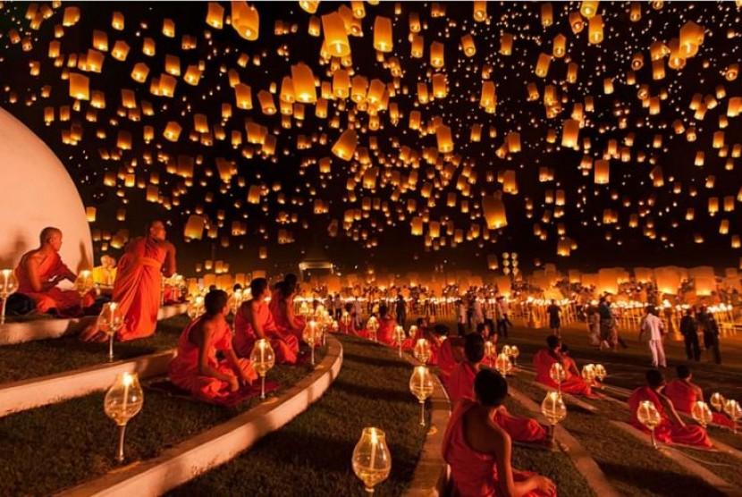 Festival Lampion Yi Peng, Thailand