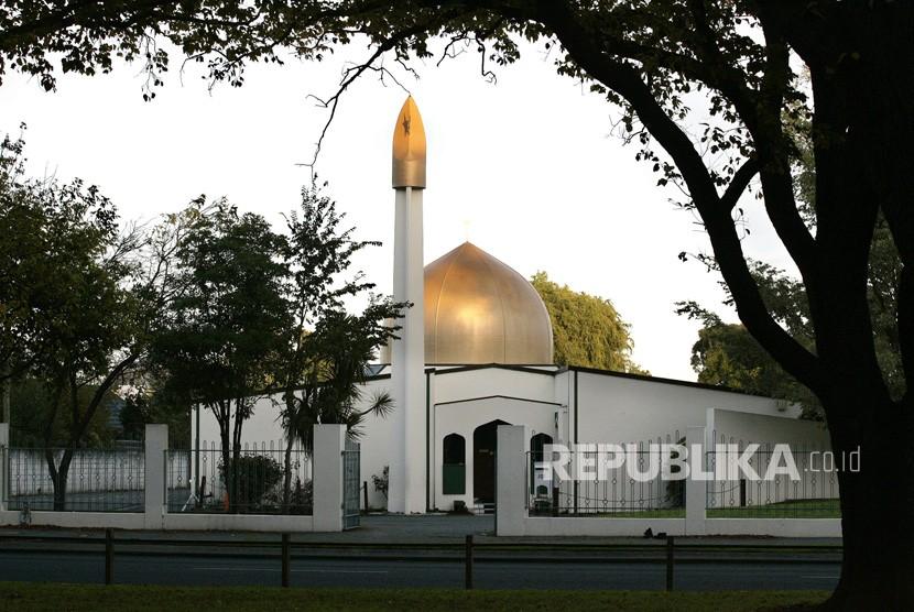 File foto tidak bertanggal menunjukkan Masjid Al Noor di Deans Avenue, tempat penembakan massal, di Christchurch, Selandia Baru, (15/3/2019).
