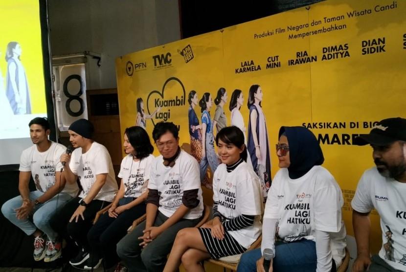 Film Kuambil Lagi Hatiku. Konferensi Pers Perilisan Poster dan Trailer film Kuambil Lagi Hatiku di Jakarta.