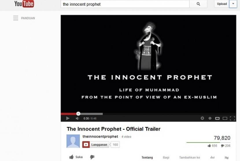 Film 'the Innocent Prophet: Life of Muhammad', yang berisi menghina Islam dan Nabi Muhammad SAW.