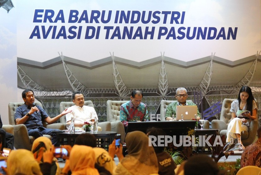 Focus Group Discussion bertajuk Bandara Kertajati Era Baru Industri Aviasi di Tanah Pasundan, di Ballroom Hotel Mercure, Kota Bandung, Sabtu (22/6).