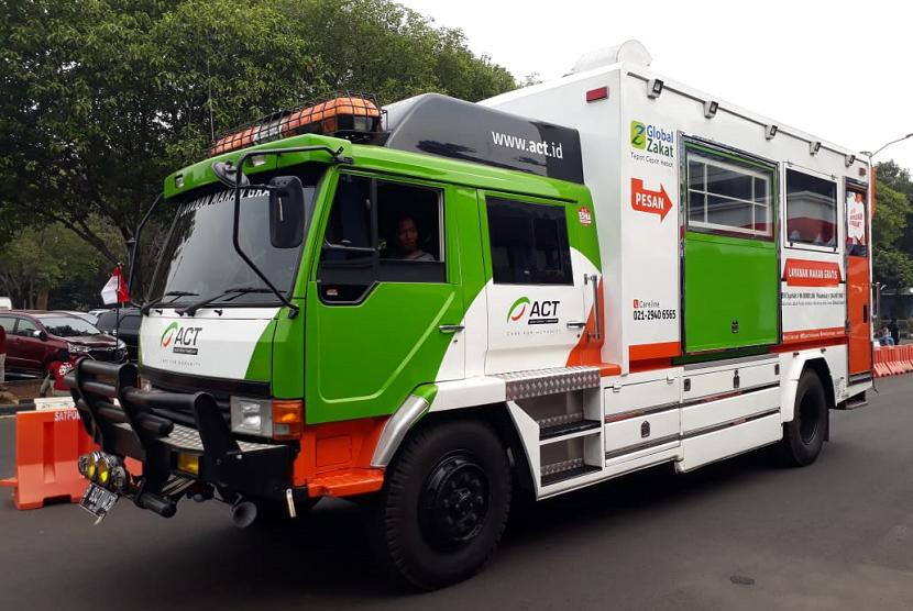 Food truck ACT akan menyajikan 1.000 paket makanan setiap harinya bagi para korban gempa Lombok.