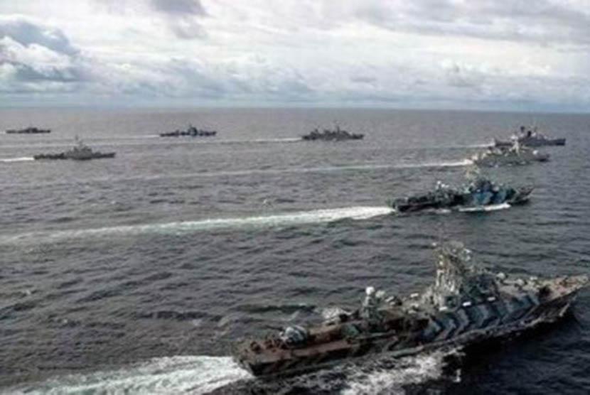 Formasi kekuatan maritim RI (ilustrasi)