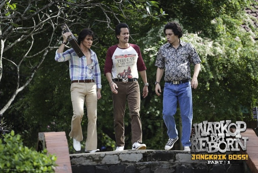 Foto behind the scene penggarapan film Warkop DKI: Reborn Jangkrik Boss part I