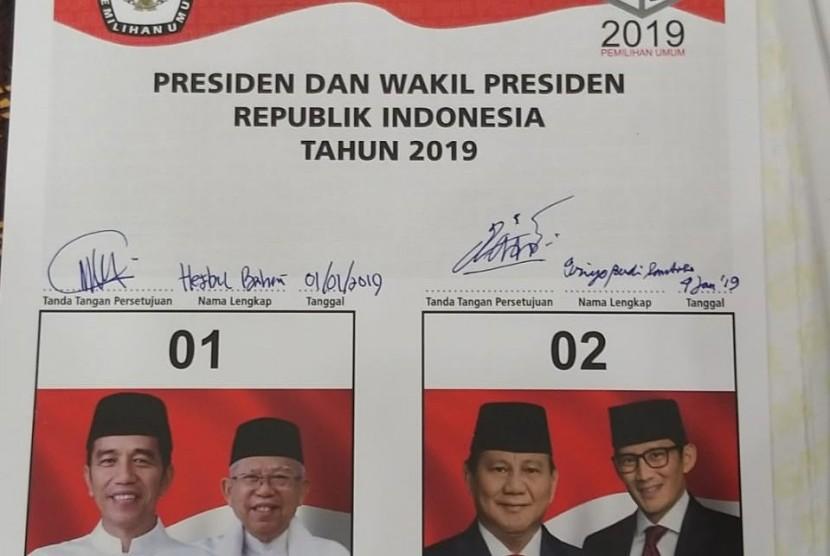 Makna Citra Foto Prabowo Sandi Di Surat Suara Pilpres 2019