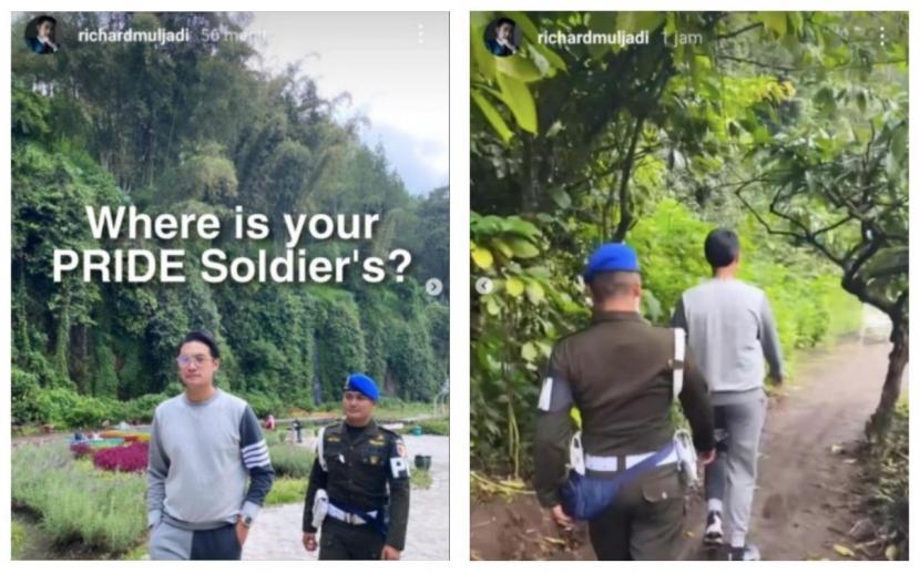 Foto Richard Muljadi dikawal personel Pusat Polisi Militer Angkatan Darat (Puspomad) viral di media sosial.