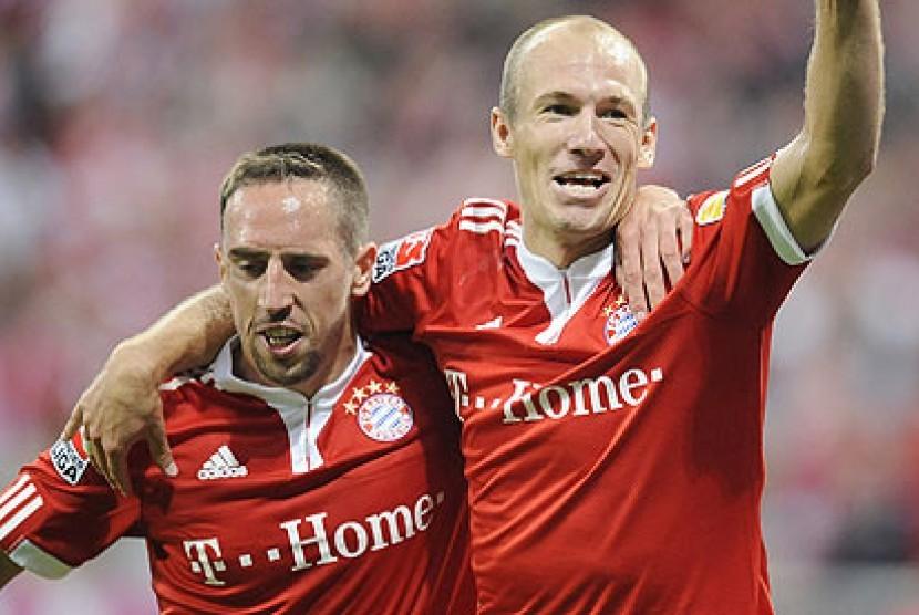 Franck Ribery dan Arjen Robben.