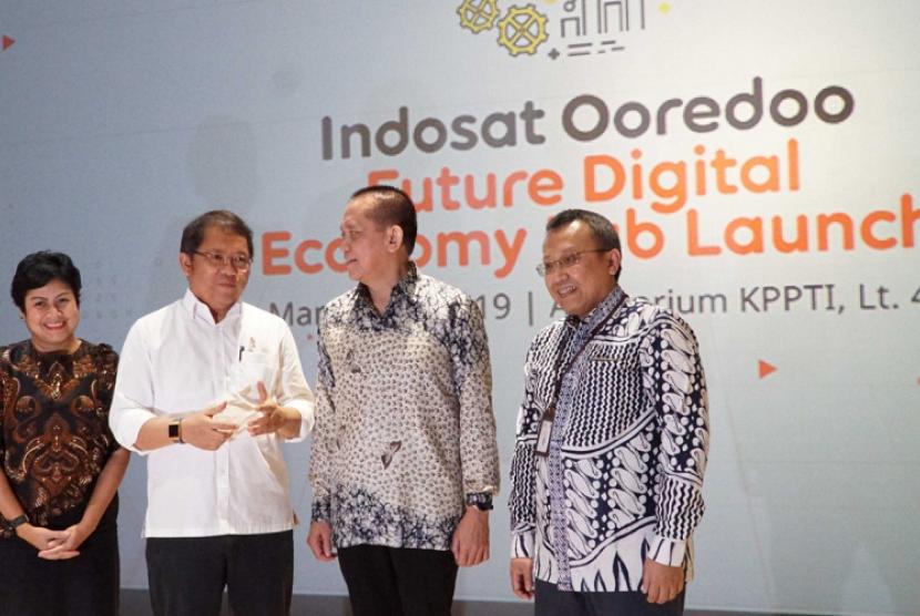 Future Digital Economy Lab. Indosat Ooredoo meluncurkan Future Digital Economy Lab, Senin (18/3).