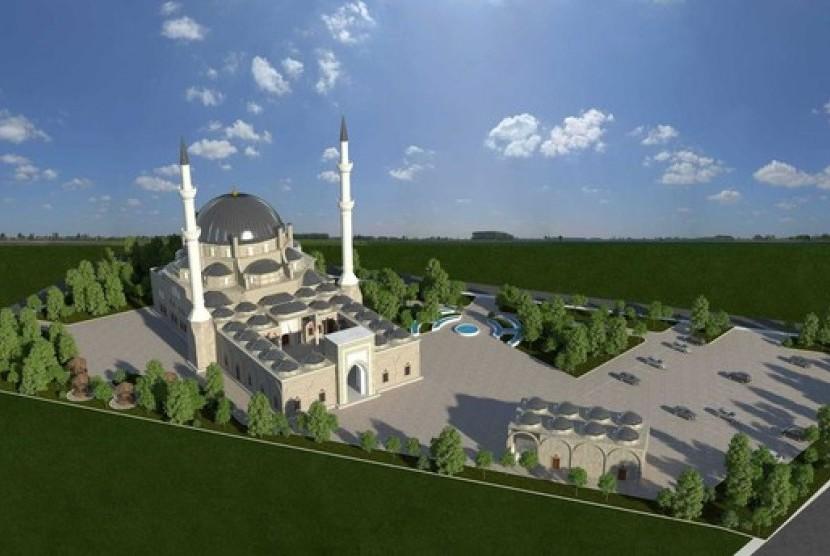 Gambar maket Masjid Djibouti