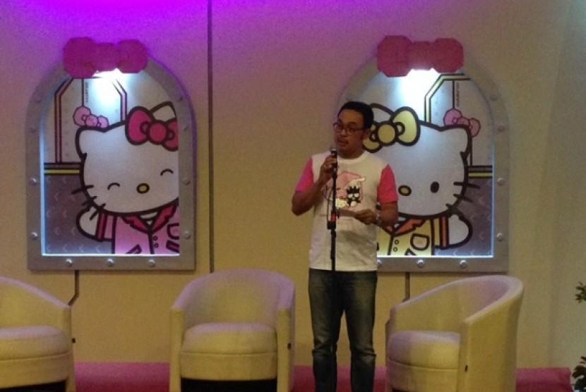 Gatot Setyo Waluyo, Direktur Utama PT Pembangunan Jaya Ancol, Tbk pada saat peluncuran Wahana Hello Kitty, Jumat (12/12) kemarin.