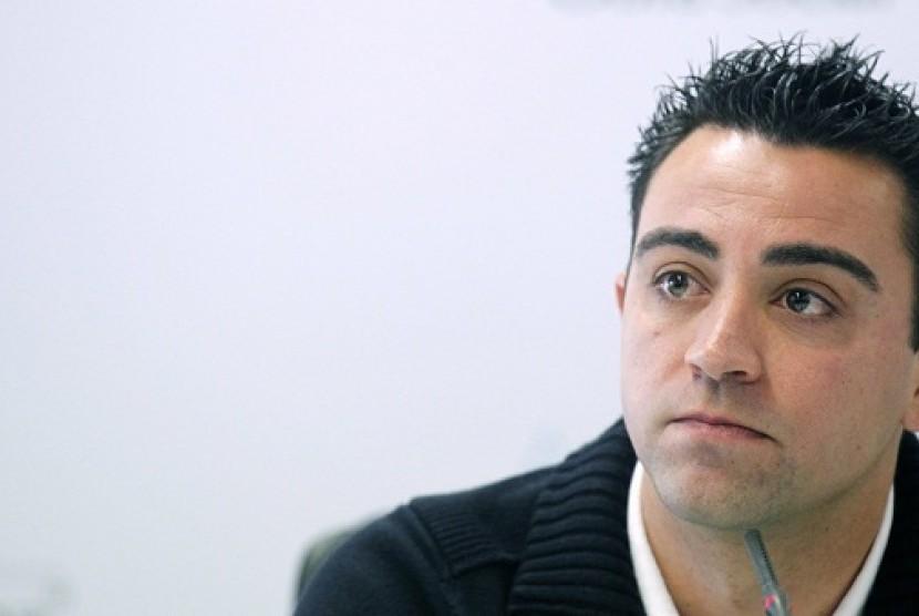 Gelandang Barcelona, Xavi Hernandez