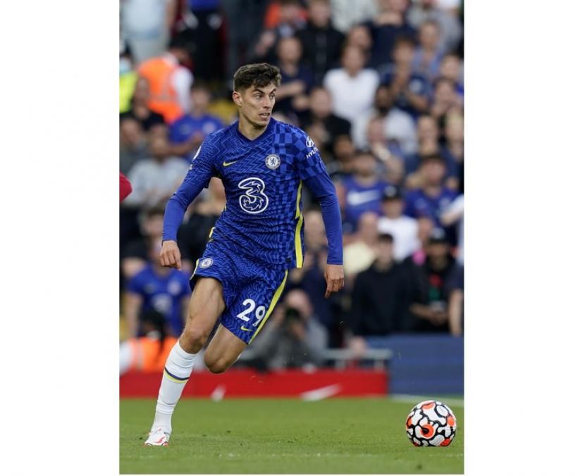 Gelandang serang Chelsea, Kai Havertz akan didorong menjadi penyerang dalam laga kontra Norwich City.