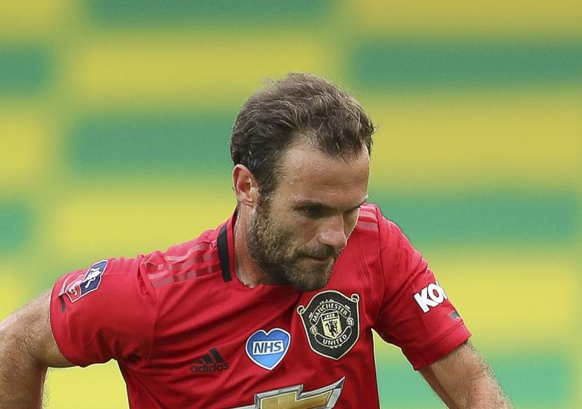 Gelandang Manchester United (MU) Juan Mata.