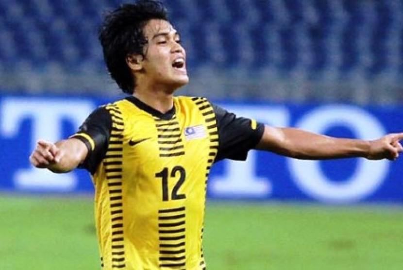 Gelandang timnas Malaysia, Mohd Nazmi Faiz Mansor.