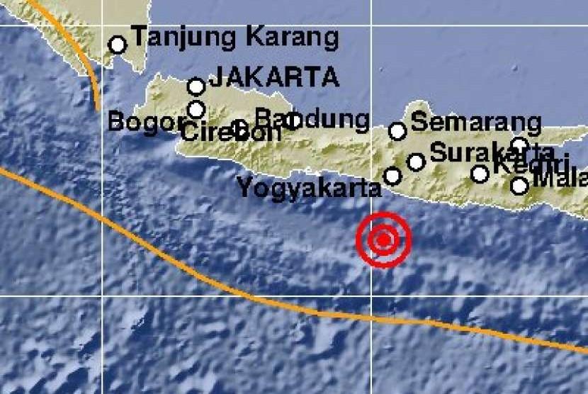 Gempa 5,8 SR melanda Yogyakarta.