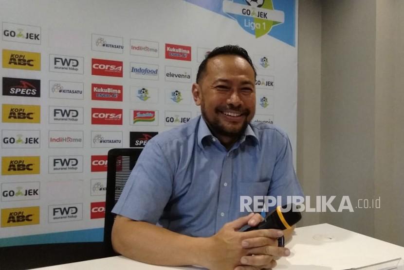 General Coordinator Panpel Persib, Budhi Bram Rachman di Graha Persib, Bandung, Jumat (20/4).