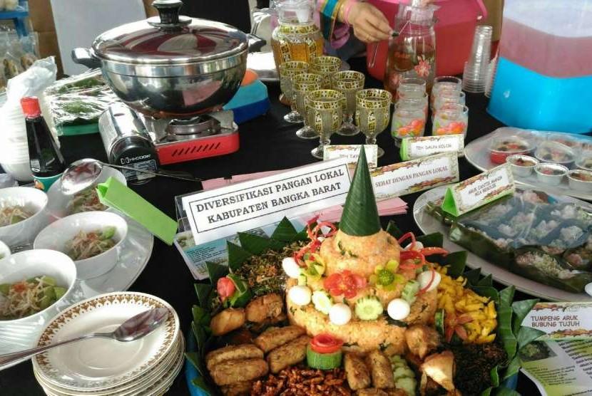 Gerakan Makan Sayuran, Buah, Umbi-umbian, Kacang-kacangan, dan Ayam Merawang di Bangka Belitung