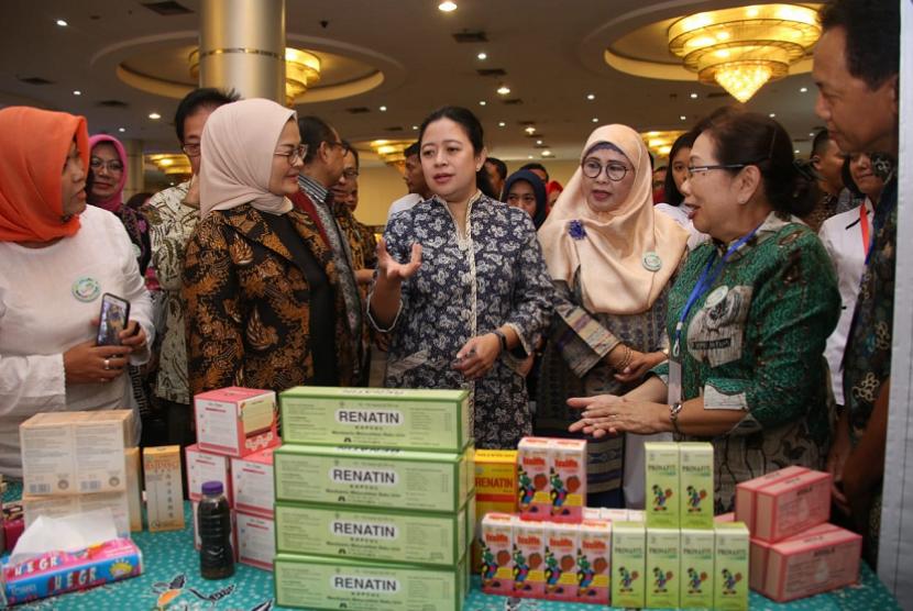 Gerakan Usaha Mikro Kecil Menengah (UMKM) Jamu Berdaya Saing dan Herbal Indonesia Expo 2018 yang berlangsung di Smesco Tower, Jakarta, Rabu (12/12) pagi.