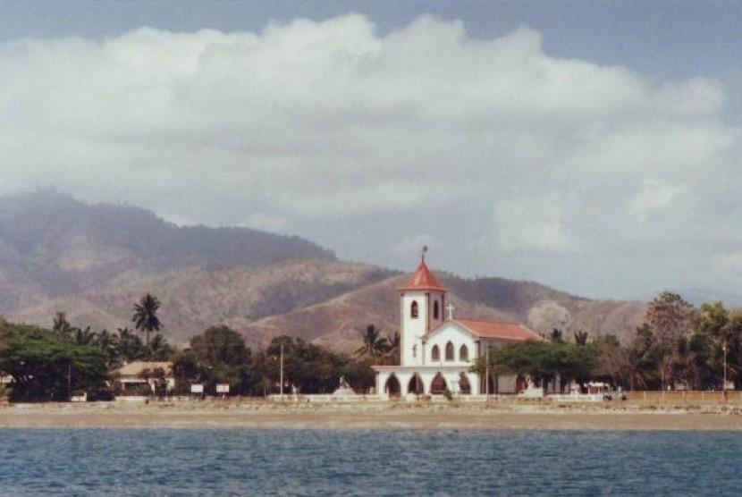 Gereja De Santo Antonio de Motael di Dili, Timor Leste pada 1991.