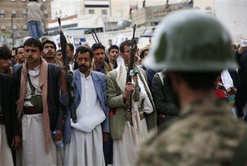 Gerilyawan Houthi di Yaman.