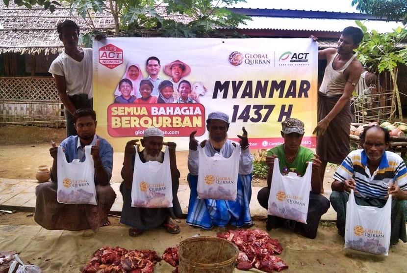 Global Qurban di Myanmar.