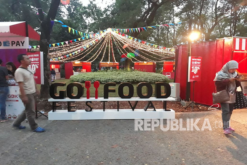 Gojek menggelar Go-Food Festival. ilustrasi