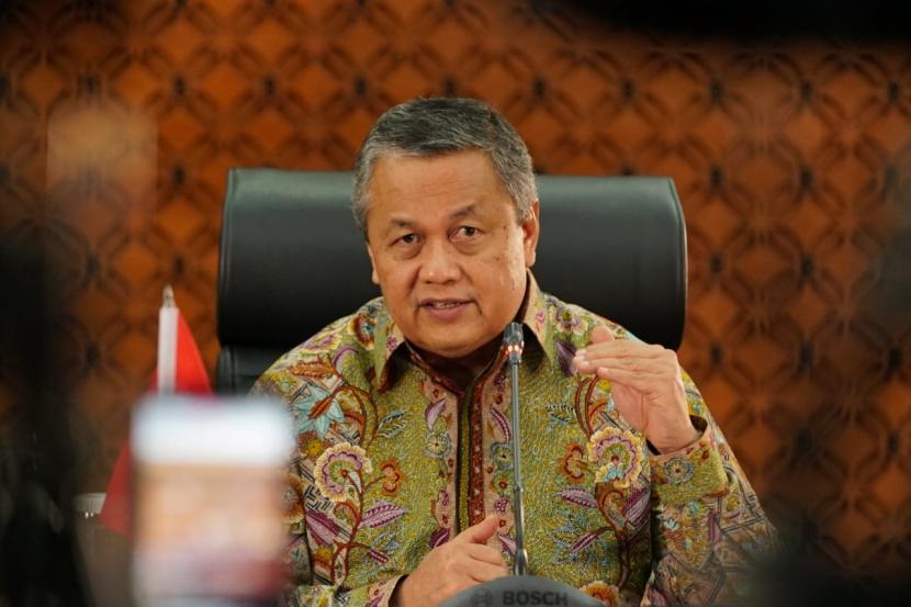 Gubernur Bank Indonesia, Perry Warjiyo. BI mendukung Gernas BBI dan Gernas BWI.