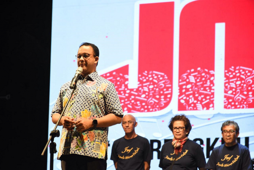 Gubernur DKI Jakarta Anies Baswedan menghadiri Jakarta Melayu Festival di Taman Impian Jaya Ancol.